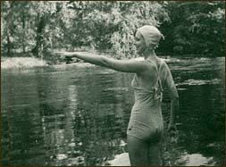 Pleasures were simple ones for travelers to the Smokies in its first forty years. In these, less litigious times, Doug allowed swimming in his new pond. Charys Freeman Wheeler, on her honeymoon in 1947 at Buckhorn, enjoyed a dip in the cold waters of Buckhorn Pond which is filled by a spring and runoff from down the hill.