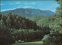Postcard sold by the Inn of its view in the 1960's.