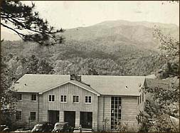 The Bebbs oriented the Inn toward sweeping views of Mt. Leconte, TrilliumGap, Brushy Mountain and Winnesoka Knob