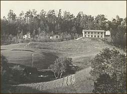 The natural depression at the lower right was eventually was dammed up by Doug and became the Buckhorn Inn Pond. To the right of the Inn is the Inn's original water storage tank.