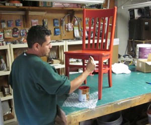 The Red Chair Gets a Paint Job