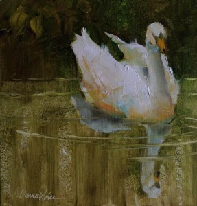 Swan Painting Donna Noice
