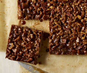 Spiced Chocolate Pecan Squares