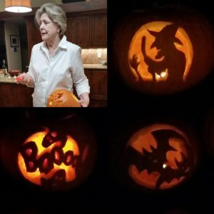 The guest Jack-o-lanterns did justice to traditional Halloween themes.