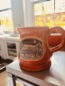 Your Buckhorn Inn mugs will hold a satisfying warm beverage.