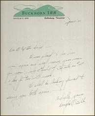 Letter from Audrey Bebb in 1938