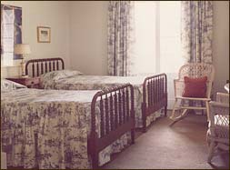 Room 1, circa 1979. Twin beds were still perfectly acceptable to the traveling public in 1979