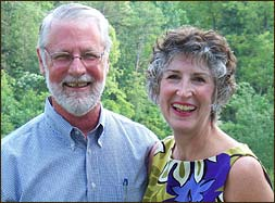Doug's youngest daughter Ellen with her husband Finbarr visiting the Inn in 2012. Ellen also grew up with her sister Tina and the Harvill children at Buckhorn. She remains one of the Inn's biggest fans.