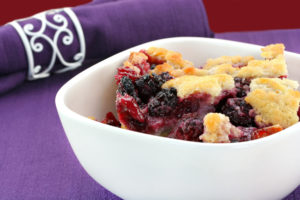 Bumbleberry cobbler is a favorite dessert of Buckhorn Inn guests.