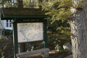 Pits for playing horsehoes are located near #18.