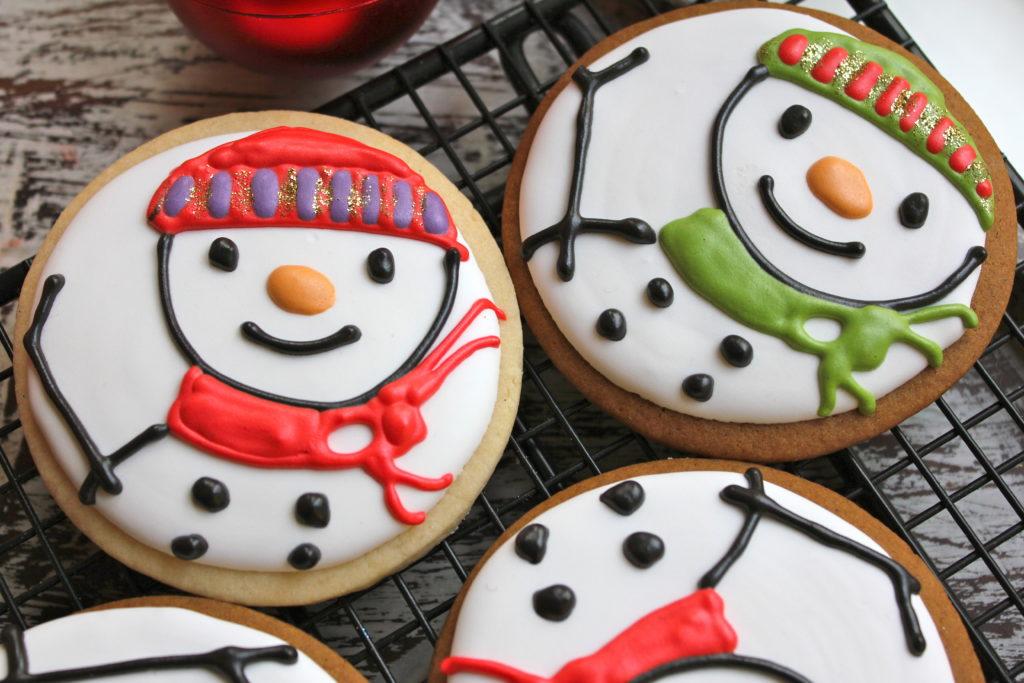 Stamped sugar cookie colorful