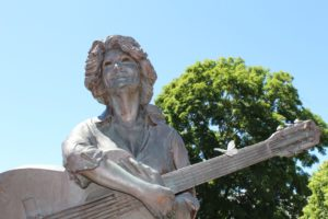 Megan Galbreath gets photo credit for this picture of the Dolly Parton statue in Sevierville.