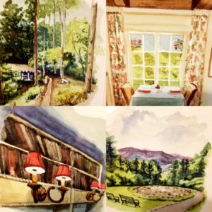 The watercolor series is designed to spark your own Buckhorn Inn memories.