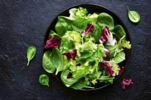 Fresh, beautiful greens are the start of many delicious salads.