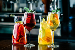 Sangria can be made with either red or white wine.