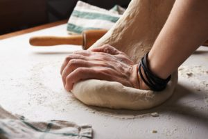 Kneading bread dough is fun for the entire family.